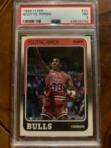 1988 Fleer Scottie Pippen Basketball Card 20 PSA 7 Rookie Card  NM-MT - $31.36