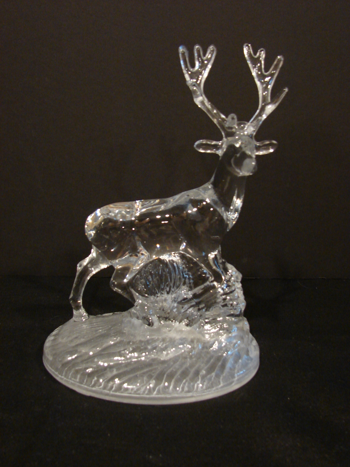 Primary image for Stag Deer Ornament Figure Cristal D' Arques Crystal (Rare)