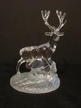 Stag Deer Ornament Figure Cristal D' Arques Crystal (Rare) - $39.90