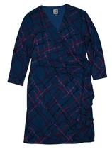 Anne Klein Wrap Dress, Blue, Size 16 - $59.39