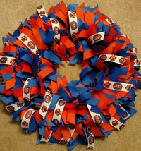 "Auburn University Tigers  16"" Ribbon Wreath Custom Made You And All Tige... - $45.00"
