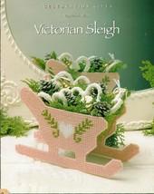 Plastic Canvas Xmas Victorian Sleigh Angel Banner Coasters  Bowl Wreath Pattern - $6.99