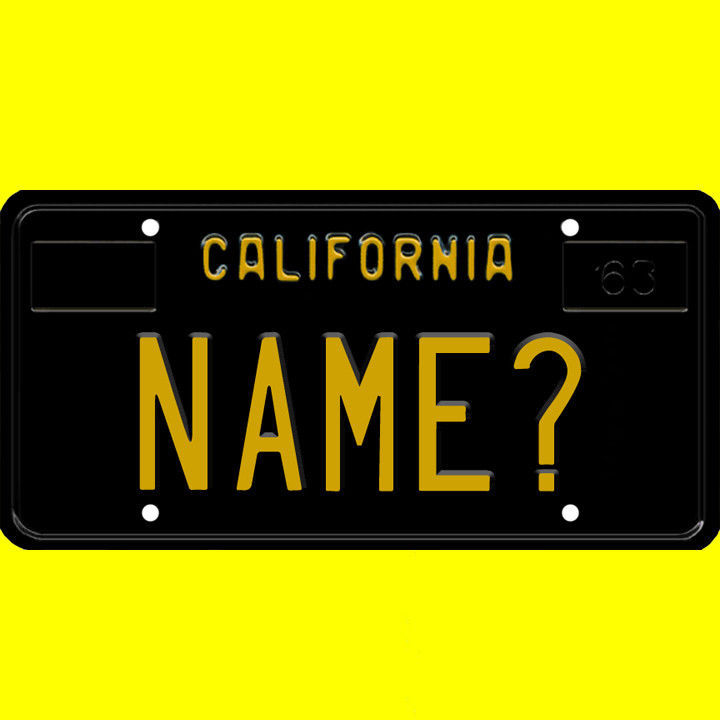 Ride-on battery powered vehicle license plate - custom California design