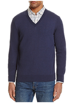 The Men's Store at Bloomingdale's Cotton V-Neck Sweater , Size XL - $39.59