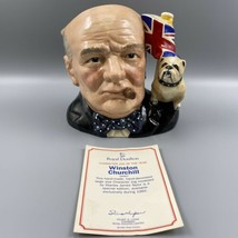 Royal Doulton Winston Churchill D6907 Character Jug Of The Year 1992 Bul... - $395.99