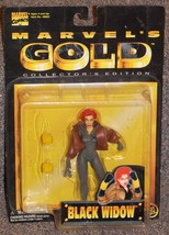 1998 Marvel Gold Black Widow 5 inch Action Figure New In The Package - $24.99