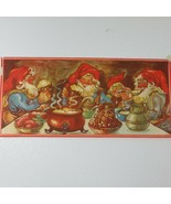 Vintage Swedish Sweden Long Christmas Poster 29 x 13.5  Marked B - LE - $49.45