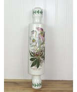 Portmeirion Pottery Rolling pin CHRISTMAS ROSE Hellebores Niger w/ end s... - $66.47