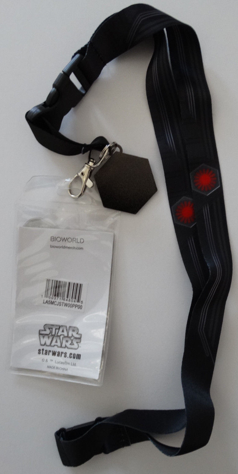 Star Wars First Order ID Badge Holder Keychain Lanyard