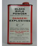 Vintage Goex FFg Superfine Black Powder Tin 16oz. Empty Tin GOOD CONDITION - $14.99