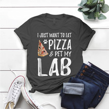 Lab Dog Lover Pizza Labrador Dog Mom T- Shirt Birthday Funny Ideas Gift ... - $15.99+