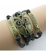 Bracelet Ladies Jewelry High Vintage Ethnic Style Handwoven Owl LOVE Con... - $3.02