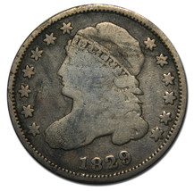 1829 Capped Bust Dime 10¢ Coin Lot# MZ 3540