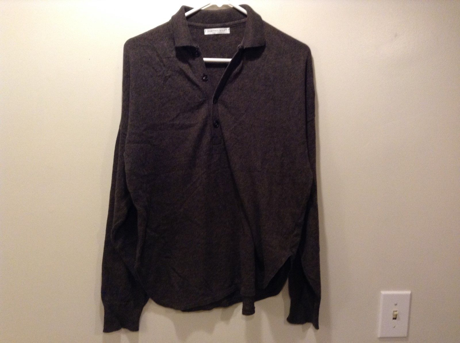 Ladies Brown Pullover Sweater Shirt by Joan Vass
