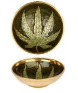 Brass Bowl w/ Leaf Design - $4.46