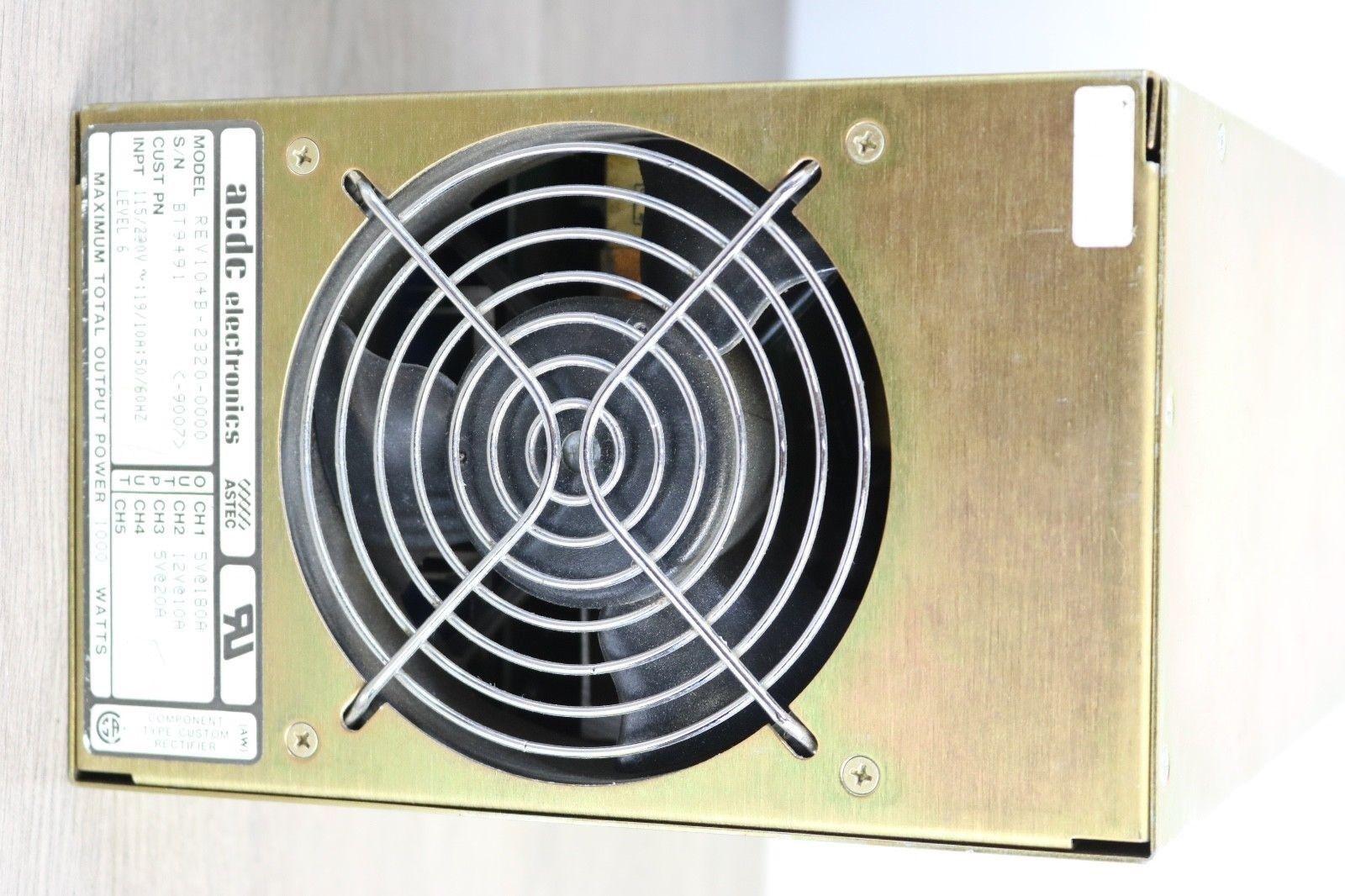 ACDC Electronics REV104B-2320-0000  1000 WATT 3CH 5V@180A, 12V@10A, 5V@20A