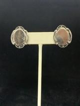 Vintage Silver Tone Signed Star Screw Back Earrings (269) - $5.00