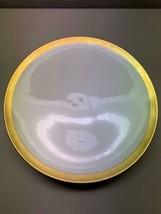 LENOX Green Mark Fine Porcelain 24k Gold CHARLES HALL Footed Side Plate ... - $108.15