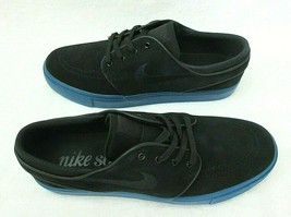 Nike Mens Zoom Stefan Janoski Suede Skate Shoes Black Blue Force Size 9 ... - $64.34