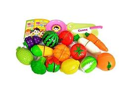 Think Toys Fruit Vegetable Slice Cutting Kitchen Play Food Toy Set