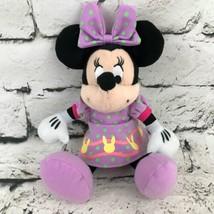Disney Minnie Mouse Plush Doll Wearing Purple Easter Dress Stuffed Anima... - $9.89
