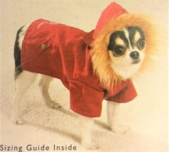 Red Hooded Cabin Dog Jacket - Casual Canine - M/L - NWT - $9.95+
