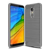 Carbon Fiber Phone Cases For Xiaomi Redmi Case Silicone (Gray Case) - $14.99