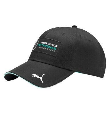 Men's PUMA × Mercedes Silver Arrows Hat Black Adjustable Baseball Cap 002521 01