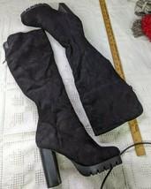 Wild Diva Women's Suede Over Knee Combat Boots Size 10 - $18.60