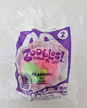 McDonalds 2012 Zoobles Spring To Life No 2 Clappers Childs Happy Meal Toy - $4.99