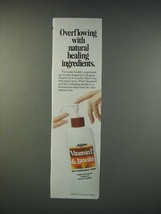 1990 Jergens Vitamin E & Lanolin Skin Conditioning Lotion Ad - Overflowing - $14.99