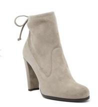 Stuart Weitzman Glove Topo Taupe  Suede Ankle Bootie Stiletto Heel Boot Sz 7.5 - $299.98