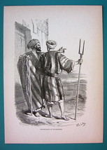 ISRAEL Inhabitants of Bethlehem - 1866 Antique Print  - $16.20