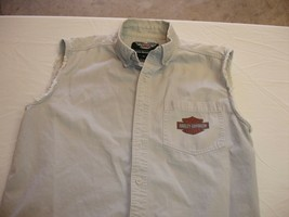 Harley Davison pre owned Sleeveless Buttoned Collared Shirt - $15.83