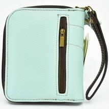 Chala Handbags Faux Leather Whimsical Sea Turtle Teal Zip Around Wristlet Wallet image 2