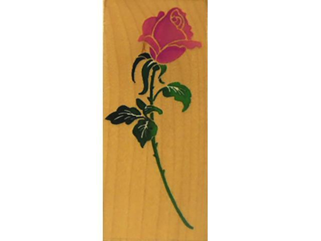 Stampendous Bold Rosebud 1994 Rubber Stamp #N021