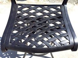 Patio Bar Stool Set of 2 Swivel Outdoor Furniture Cast Aluminum Sunbrella Seat image 2