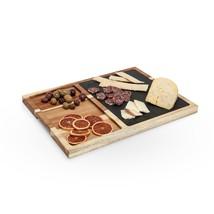 Serving Cheese Board, Slate And Acacia Wood Rustic Elegant Cheese Board - $56.29