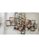 Metal Copper Gold Silver Big Mural Wall Home Decor Art Vintage Wall Hanging - $367.89
