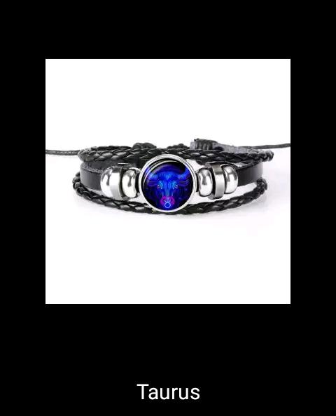 12 Constellation Luminous Bracelet Men Women Leather Bracelet Charms Bracelets