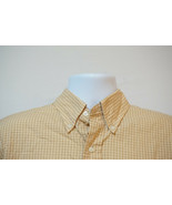 Brooks Brothers Midweight Button-Front Shirt, Mustard, Excellent, Large ... - $12.74