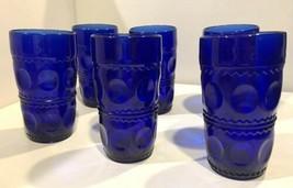 Set of 6 Colony Kings Crown Cobalt Blue 12 Oz Tumblers - $47.50