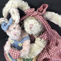 BOYDS BUNNY MOMMA O'HAREA  & BONNIE BLUE BABY Rabbit Easter Plush W/Tags - $15.88