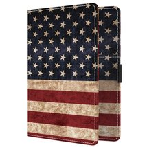 MoKo Passport Holder, PU leather Travel Case Cover for Passport, US Flag... - $10.49