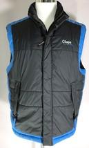 Chaps Ralph Lauren Mens Vest Size Large Black Blue Zip Up Nylon Puffer - $49.95