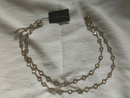 Cookie Lee Gold Colored Yellow Crystal Necklace NWT - $9.00