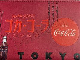 Rare NEW Coke Coca Cola Tokyo Special edition Women Girl burgundy ID zip wallet image 4