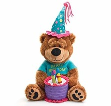 "Adorable Happy Birthday Teddy Bear With Cake That Plays ""Happy Birthday ... - $33.46"
