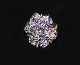 Heidi Daus Petal Profusion Flower Crystal Ring size 6, 7 - $61.69