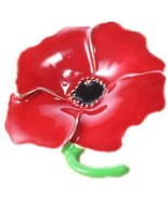 Poppies Flower Brooch Remembrance Day Badges Banquet Enamel Lapel Pins,3... - $19.85